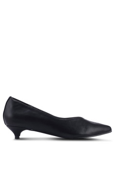 62eef8cd8fa Nose black Pointy Toe Low Heel Pumps 067ADSH65027B4GS 1