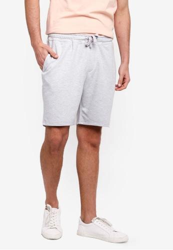 Burton Menswear London 灰色 休閒抽繩短褲 CA015AA53F385EGS_1