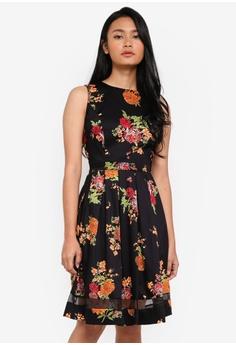 Dorothy Perkins black Black Oriental Wrap Back Dress 87E12AA218226BGS 1 cf690f838