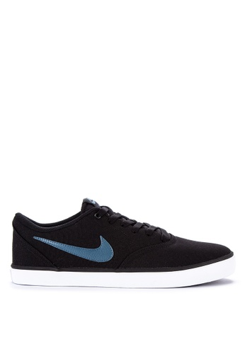 b2c02ceda7d3f Nike black Men s Nike Sb Check Solarsoft Canvas Skateboarding Shoes  1D0FESH1FD2219GS 1