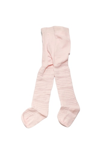 Little Kooma pink Girl Breathable Cotton Stripe Tights 6 Months to 4 Years Pink E3BCFKA302E9B8GS_1