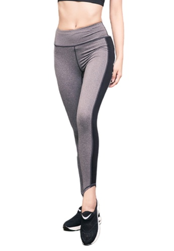 B-Code grey ZYG3029-Lady Quick Drying Running Fitness Yoga Sports Leggings -Grey BE6FAAAE1BD1A9GS_1