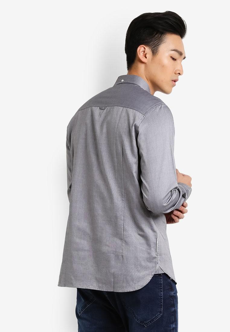 CR7 Grey Spec Tailored 3 Shirt Casual Rigid Progressive wq4nYnx0aZ