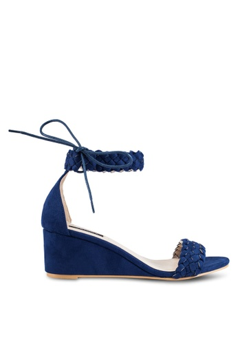 ZALORA navy Weaved Low Wedges 51F70SHC006D7AGS_1