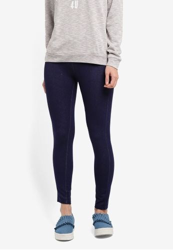 UniqTee blue Slimming Effect Leggings UN097AA0SHDXMY_1