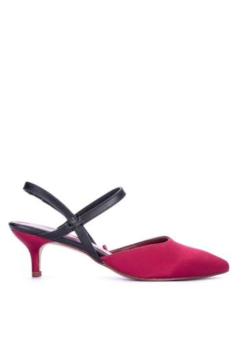 ANINA red Ysa Closed Toe Heels F2B25SHC014F76GS_1