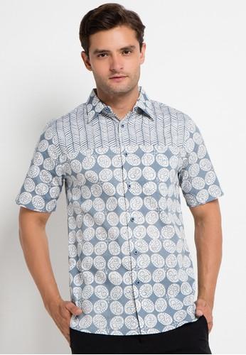 Bateeq grey Short Sleeve Cotton Cap Shirt BA656AA0VCNXID_1