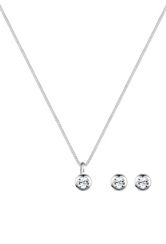 838f768d6 Elli Germany white Elli Germany Jewelry Set Sterling Silver Classic  Swarovski Crystals 477E9AC3BA6293GS_1