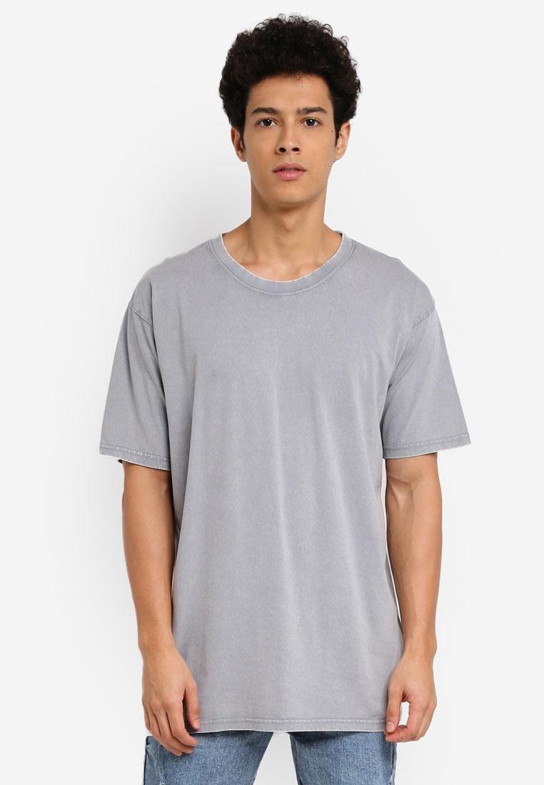 Acid Dylan Cotton Tee Overcast Grey On x04RFYRWq