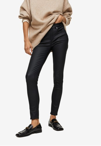 Mango black Coated Skinny Push-Up Jeans A71BFAAD271755GS_1