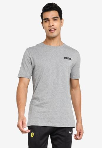 PUMA grey Essentials Small Logo Men's Tee 1DCDFAADE30A0EGS_1