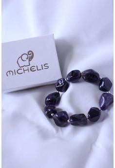 Michelis Amethyst Lucky Charm Bracelet