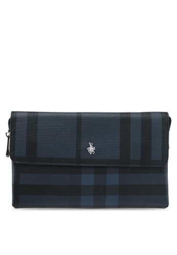Swiss Polo blue Swiss Polo Checkered Clutch SW912AC0SMBCMY_1
