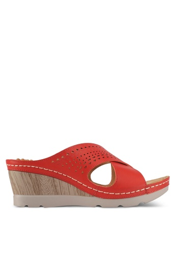 Alfio Raldo red Wedge Sandals 129A2SHC267595GS_1