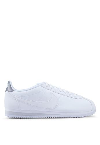 best service 49c6a 02235 Nike white Nike Classic Cortez Leather Shoes D04B3SHCAD177FGS 1