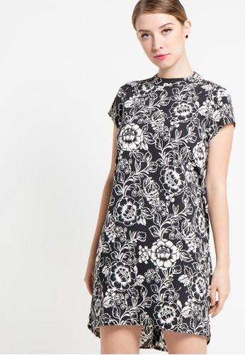 EDITION black Oriental Floral Dress ED101AA20DVFID_1