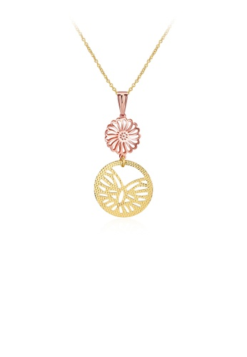 Glamorousky silver Elegant Flower Pendant with Necklace 77269AC498BFFAGS_1