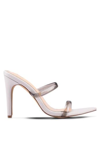 4658fc73d Nose grey Sharp Toe Clear Band High Heel Slides 2E3D6SH731602FGS 1