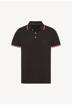 579fde71 Tommy Hilfiger black Tommy Tipped Slim Polo 47E77AAEF026CEGS_1