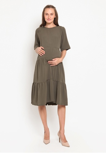 Chantilly green Dress 2in1 Pregnant / Breastfeeding with Slimming Effect 2D462AA156364DGS_1