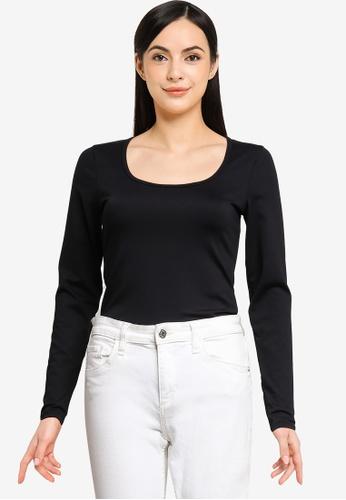 Abercrombie & Fitch black Core Seamless Bodysuit Top 71169AA3F959C5GS_1