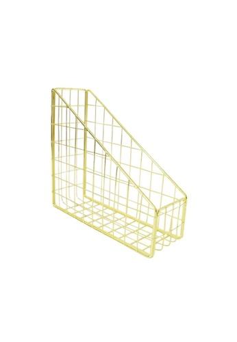 DILAS HOME Metallic File Holder (Gold) D75DBHL1ABEDCFGS_1