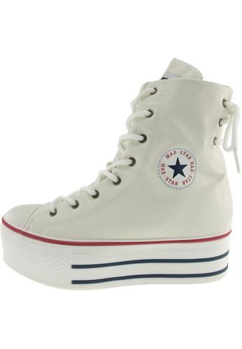 Maxstar 白色 新款韩国鞋C50-TC-Back-3H時尚皮革布混合女白色 US Women Size MA345SH70GUJTW_1