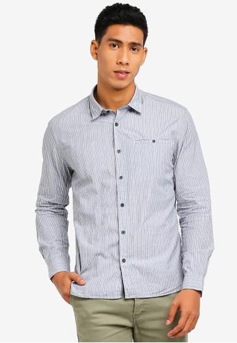 ESPRIT navy Woven Long Sleeve Shirt 770B4AA0FA20C1GS_1