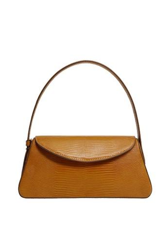 Mango brown Baguette Flap Bag 34C60AC59C21D7GS_1