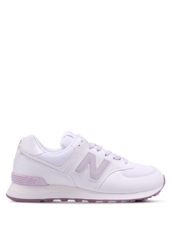 New Balance white 574 Spring Forest Edition Lifestyle Sneakers C6786SH03A41B0GS_1