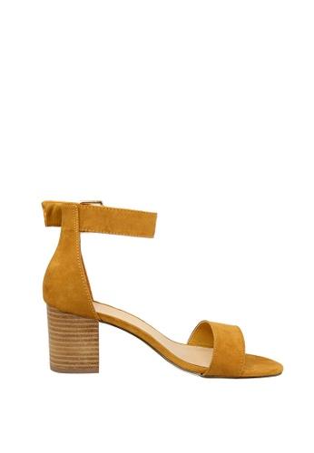 London Rag yellow Mustard Chunky Heel Sandal E6EA3SHD68D7B6GS 1