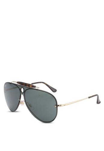 Ray-Ban gold Blaze Shooter RB3581N Sunglasses RA896GL60LEDMY_1