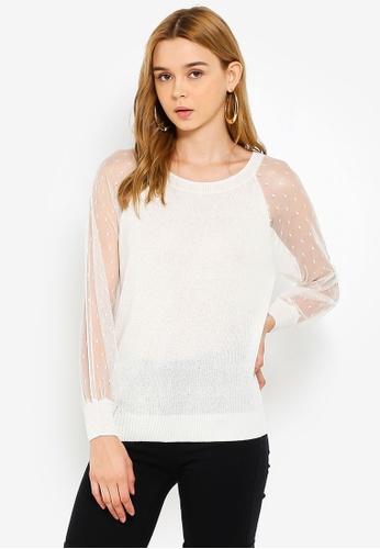 ONLY 白色 長袖針織衫 6ABEAAA3126A81GS_1