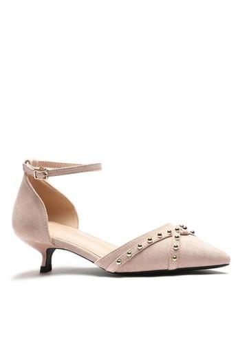 Twenty Eight Shoes Stud Textile Sandals 395-3 0E7DFSHDBCC566GS_1