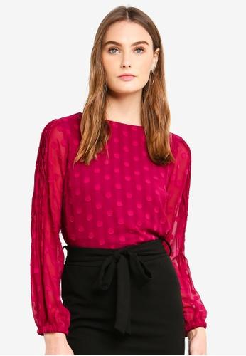 Vero Moda pink Eva LS Top 301B2AA06EA3BEGS_1