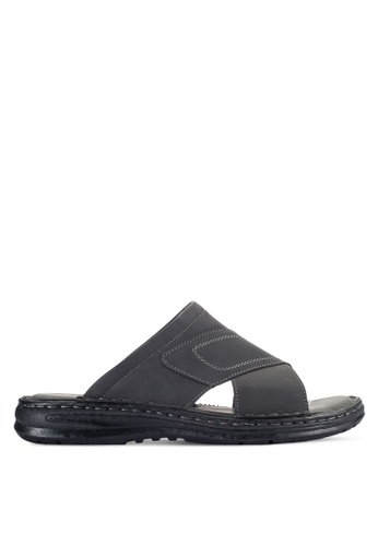 Louis Cuppers black Casual Sandals LO977SH92VPBMY_1