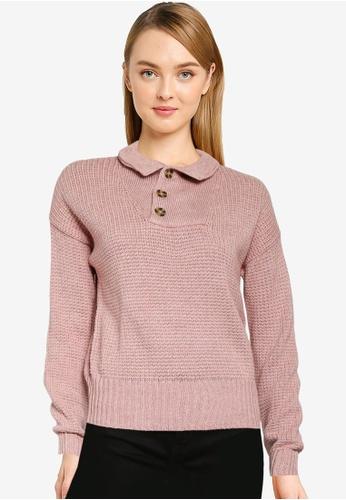 GAP pink Half Button Pullover BCDE2AA368D3E6GS_1