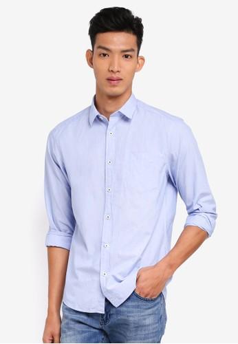 ESPRIT blue Woven Long Sleeve Shirt 2B086AAB720D96GS_1