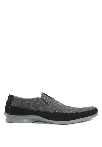 Dr. Kevin black and grey Dr. Kevin Men Casual Shoes 13274 - Black/Grey DR982SH0U50HID_1