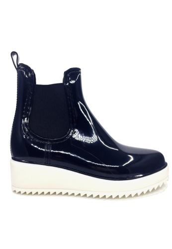 Twenty Eight Shoes 黑色 船跟短雨靴 VRN01 E7F35SH5CEFE0DGS_1