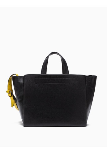 Calvin Klein black Leather Carryall Bag D95A4ACD5F4826GS_1
