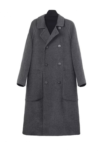 Twenty Eight Shoes grey VANSA  Over The Knee Woolen Coat  VCW-C1488 F6F1AAA0C40F4DGS_1