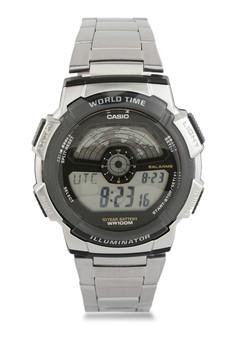 harga Casio Round Watch Illuminator Digital Ae-1100Wd-1A Zalora.co.id