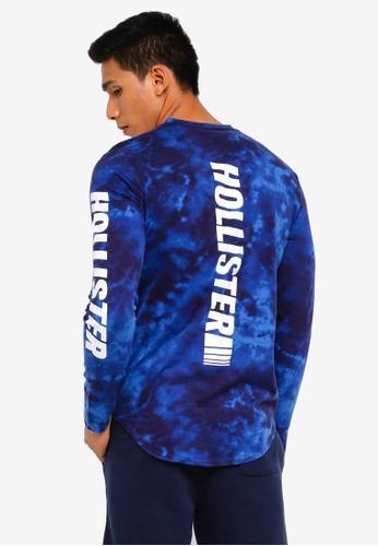 Hollister blue Long Sleeve Iconic Wash Tee 3482AAAD8AC3E2GS_1