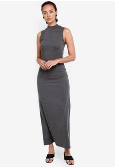 8a0befcb9ee ZALIA BASICS grey Basic Sleeveless Long Dress 2E389AA0B8BB07GS_1