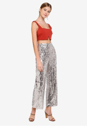 ee2d38264cabcf Buy Miss Selfridge Petite Rust Notch Crop Top Online on ZALORA Singapore