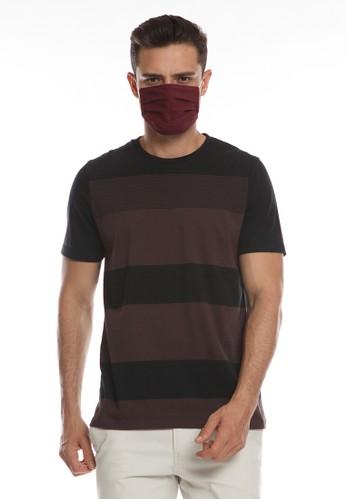 Men's Top T-Shirt Calypso 3-Dark Brown 12073AAB262A90GS_1