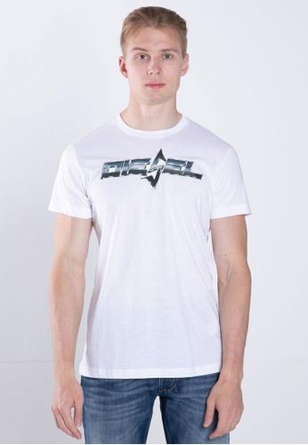 Diesel white LO-T-DIEGO-STEAL MAGLIETTA T-Shirt D860DAA974D32CGS_1