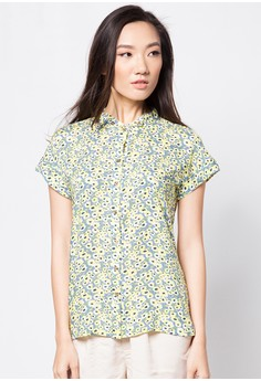Floral Short Sleeves Blouse