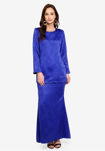 Kurung Moden Fiona from Butik Sireh Pinang in Blue